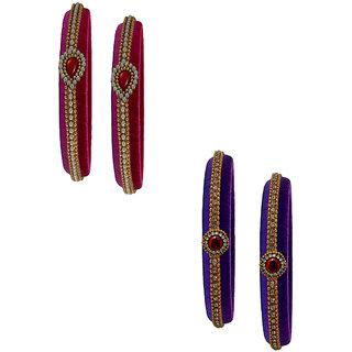 Handmade Silk Thread Trendy  Pink Purple