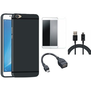Samsung J7 Prime SM-G610F Stylish Back Cover with Tempered Glass, OTG Cable and USB Cable