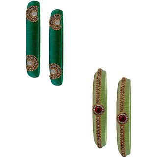 Handmade Silk Thread Trendy  Badami Peacock