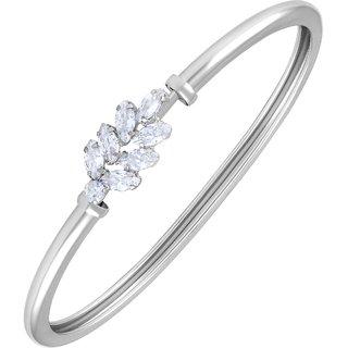 Asmitta Glimmery Designer Silver Plated Openable Kada For Women