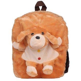 Aliado Faux Fur Brown Coloured Zipper Closure Backpack