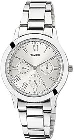 Timex Quartz Silver Dial Women Watch-TW000Q806