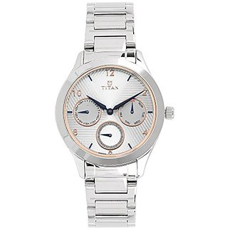 Titan Neo Analog White Dial Womens Watch-2570SM04