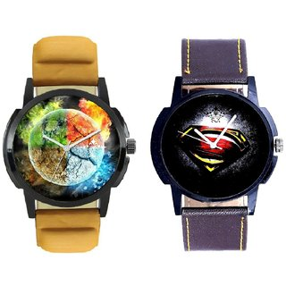Stylish 3D Designer And Super Men Stylish Men's Combo Analog Wrist Watch By Ram Enterprise