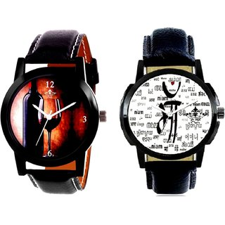 Maa All Language And Wine Glass Luxury Style Men's Combo Casual Watch By Ram Enterprise