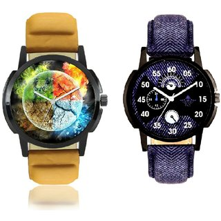 Stylish 3D Designer And Latest Blue Casual Analog Combo Men's Watch By Ram Enterprise