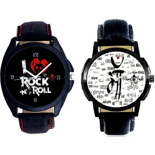 Maa All Language And I Love Rock N Roll Print Dial Men's Combo Analog Wrist Watch By Ram Enterprise
