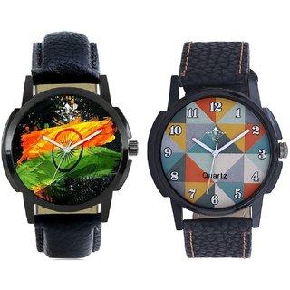 Indian Flage And Fancy Orange Colour Men's Combo Analog Wrist Watch By Ram Enterprise