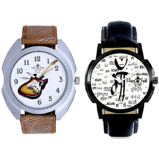 Maa All Language And Stylish Guitar Art Casual Analog Combo Men's Watch By Ram Enterprise