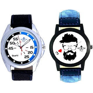 I Love Rock And Exclusive Blue-Black Round Quartz  Combo Analogue Wrist Watch By Ram Enterprise