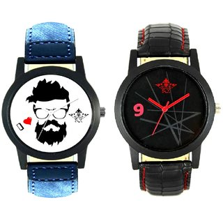 I Love Rock And Star Design Casual Analog Combo Men's Watch By Ram Enterprise