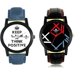 Power Of Positive Thinking And Fancy Roman Digit Men's Combo Analog Wrist Watch By Ram Enterprise