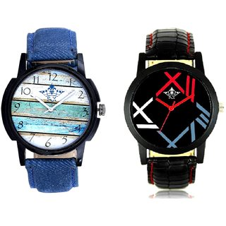 Spanish Special Colour And Fancy Roman Digit Men's Combo Analog Wrist Watch By Ram Enterprise