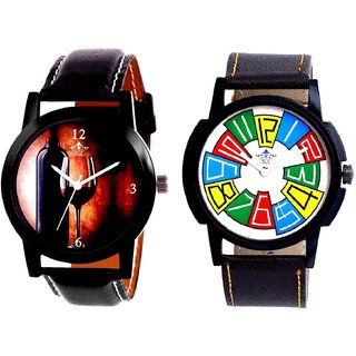 Wine Glass Luxury Style And Exclusive Multi Colour Men's Combo Wrist Watch By Google Hub