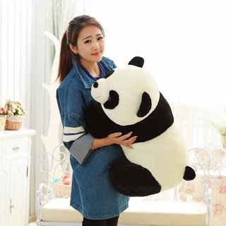 Multi Soft Fabric India Kids Baby Panda Stuffed Soft Plush Toys (26 cm White Black)