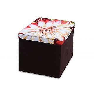 Multi Purpose Foldable Storage Stool - Assorted Design And Color