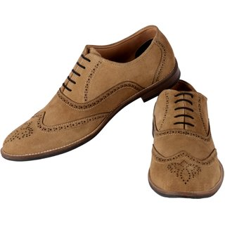 Aaiken Men S Suede Leather Oxford Shoes Casual Lace Up Dress Online Get 58 Off