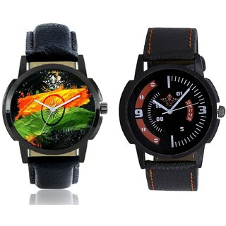 Indian Flage And Attractive Sport Design Quartz  Combo Analogue Wrist Watch BY Harmi Exim