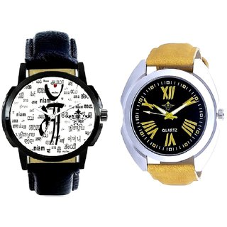 Maa All Language And Roman Digits Special Design Men's Analog Combo Casual Wrist Watch BY Harmi Exim