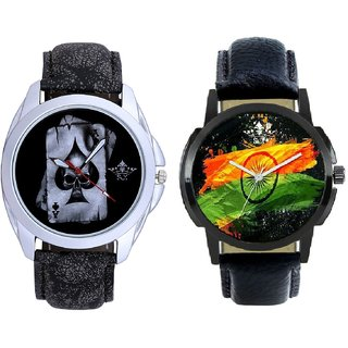 Indian Flage And Life Race Akka Analogue Men's Combo Wrist Watch BY Harmi Exim