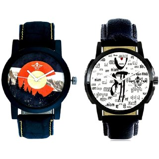 Maa All Language And Winter Mount Themes Men's Combo Analog Wrist Watch BY Harmi Exim
