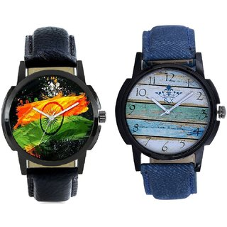 Indian Flage And Spanish Special Colour Quartz Analogue Combo Watch BY Harmi Exim