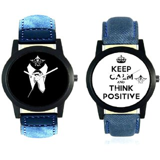 Professional Men And Power Of Positive Thinking Quartz Analogue Combo Watch BY Harmi Exim