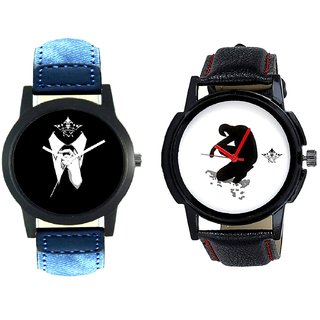 Professional Men And Fancy White Dial Men's Combo Casual Watch BY Harmi Exim