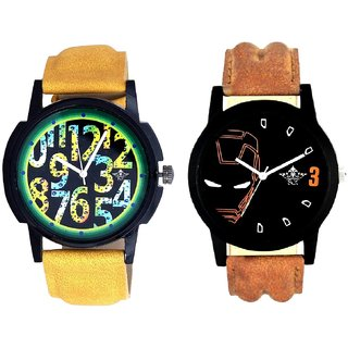Awesome Exclusive Digits And Iron Man Quartz  Combo Analogue Wrist Watch By Ganesha Exim