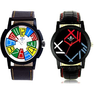 Exclusive Multi Colour And Fancy Roman Digit Men's Combo Analog Wrist Watch By Ganesha Exim