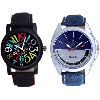 Stylish Smile Dial And Spanish Special Colour Digit Quartz Analogue Combo Watch By Ganesha Exim