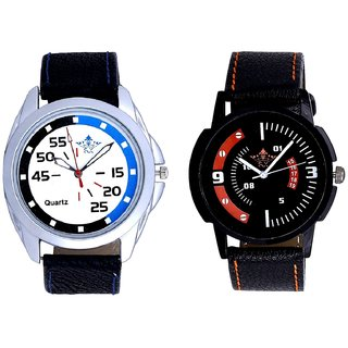 Exclusive Blue-Black Round And Attractive Sport Design Quartz  Combo Analogue Wrist Watch By Ganesha Exim