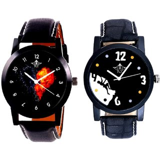 Goal Achived Motivated And Love Print Dial Men's Combo Casual Watch By Ganesha Exim
