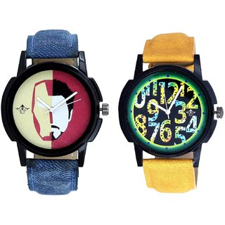 Awesome Exclusive Digits And Rocky Men's Analogue Men's Combo Wrist Watch By Ganesha Exim