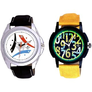 Awesome Exclusive Digits And Luxury Design 3 Fan Analogue Men's Combo Watch By Ganesha Exim