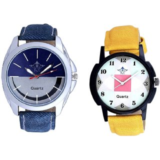 Stylish Smile Dial And Luxury Square Design Analogue Men's Combo Watch By Ganesha Exim