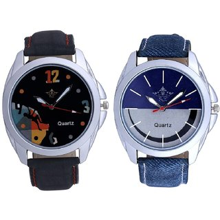 Stylish Smile Dial And Goal Achived Art Men's Combo Wrist Watch By Ganesha Exim