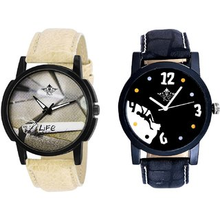 Goal Achived Motivated And Life Print Dial Men's Combo Quartz Watch By Ganesha Exim