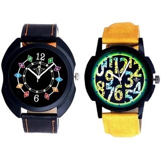 Awesome Exclusive Digits And Fancy 3D Chain Look Men's Analog Combo Casual Wrist Watch By Ganesha Exim