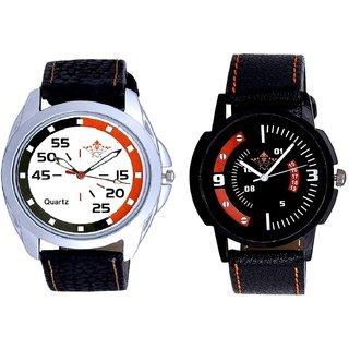 Orange-Black Multi Dial And Attractive Sport Design Quartz  Combo Analogue Wrist Watch By Ganesha Exim