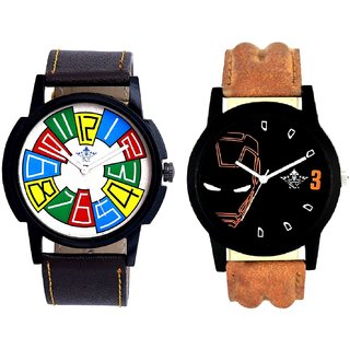Exclusive Multi Colour And Iron Man Quartz  Combo Analogue Wrist Watch By Ganesha Exim