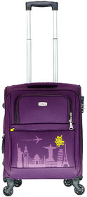Timus Salsa Wine 55 CM 4 Wheel Strolley Suitcase For Travel ( Cabin Luggage) Expandable  Cabin Luggage - 20 inch (Purple)