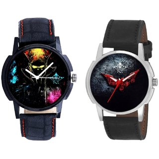 Elegant 3D Designer And Black - Red Fancy Dial Analogue Men's Combo Watch BY Harmi Exim