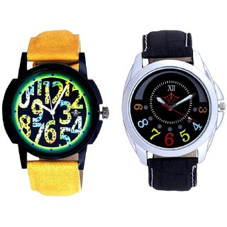 Classical Black Round Dial And Awesome Exclusive Digits Men's Combo Casual Watch BY Harmi Exim