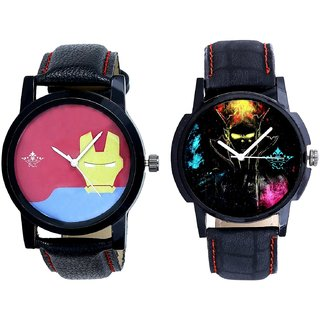 Elegant 3D Designer And Yellow Iron Men Dial Men's Combo Wrist Watch BY Harmi Exim
