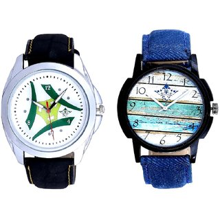 Spanish Special Colour And Luxury Green Tri Fan Men's Analog Combo Casual Wrist Watch BY Harmi Exim