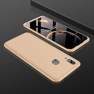 pretty nice 76554 cfdcb Vivo V9 Golden Colour 360 Degree Full Body Protection Front Back Case Cover  Standard Quality