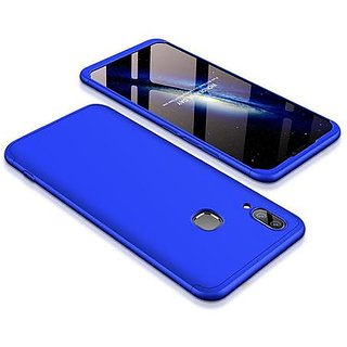 timeless design b0ebe a73f8 Vivo V9 Blue Colour 360 Degree Full Body Protection Front Back Case Cover  Standard Quality