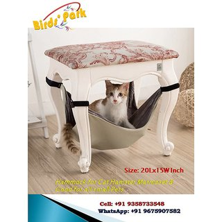 Hammock for cat - Good for Cat, Marmoset, Hamster, Guinea Pigs  Good for All Small Pets