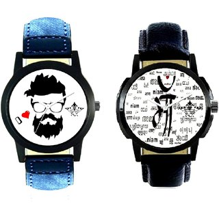 Maa All Language And I Love Rock Men's Combo Casual Watch By Vivah Mall